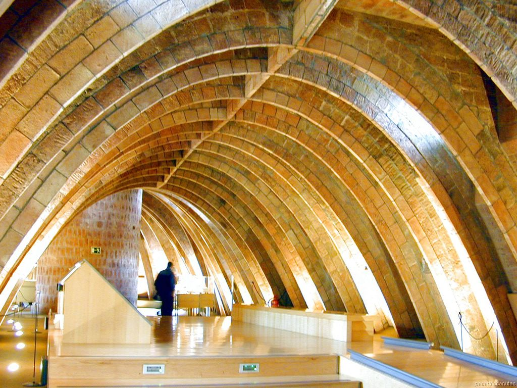 Casa Mila Interior. Cool The Windows With Stained Glass Panels With ...